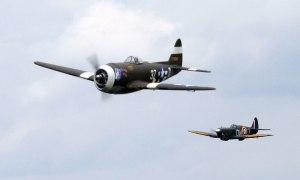 Republic-Thunderbolt-and-Supermarine-Spitfire